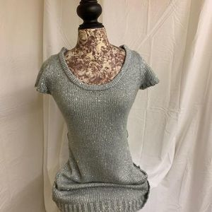Wet Seal Grey Sparkle Dress M